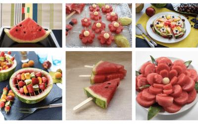 6 idee creative per servire l'anguria